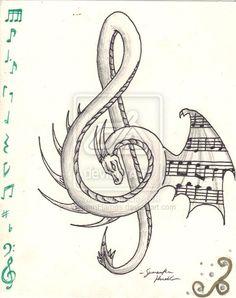 dragon treble tattoo - Google Search