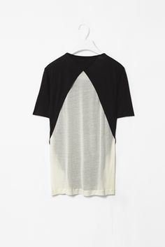 contrast detail t-shirt (rear view), by COS