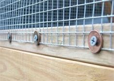 What an absolutely fantastic way to secure your hardware cloth! In very cold climates you would want to use metal washers, not plastic ones, because the plastic will get brittle and break easily in th(Chicken Backyard Ideas) Backyard Chicken Coops, Chicken Coop Plans, Building A Chicken Coop, Diy Chicken Coop, Chickens Backyard, Backyard Ideas, Backyard Ducks, Chicken Tractors, Keeping Chickens