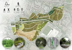 The design concept for Lourinha Eco-productive Park combines public open space with the emerging tendency of urban food production and the ecological balance.