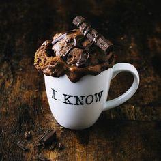 Tassenkuchen für die Mikrowelle: Double Schokoschock Rezept | Küchengötter