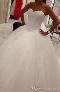 New Stock White/ivory Wedding dress Bridal Gown custom size 6-8-10-12-14-16 18