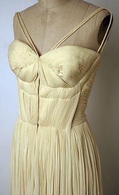 Evening dress Madame Grès (Alix Barton) (French, Paris 1903–1993 Var region) Date: 1955 Culture: French Medium: silk