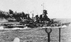 Italian battleship Littorio exercising with her sister Vittorio Veneto shortly before Italy's entry into WWII in 1940.