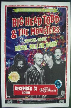 Original concert poster from the Fillmore in Denver, Colorado. 12/31/03. 11x17 thin glossy paper.