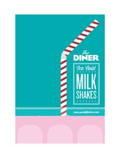 the diner ice cold milk shake sales flyer example business flyer examples creative flyer
