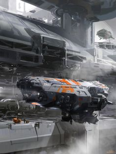 Concept spaceship art by SPARTH