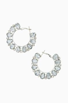 Crystal Flame Hoop Earrings