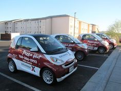 Full Wrap  - Pizza Hut Smart Cars by Iconography