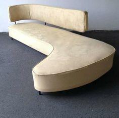 Taichiro Nakai; Iron and Wood Frame Sofa, 1954.