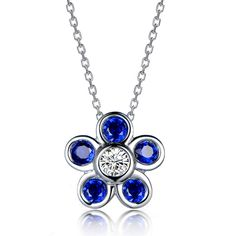 Beautiful 0.65ct Natural Blue Sapphire in 18K Gold Pendant by CHARMES Jewellery