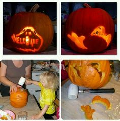 Pumpkin carving for small kids