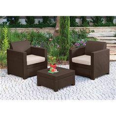 Keter Limousine Rattan Style Garden Furniture Balcony Set
