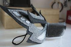 Handstitched Felt Mask Big Bad Wolf by GrimmGuises on Etsy