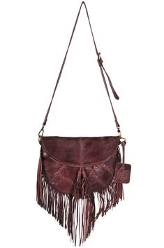 GYPSY SOUL. leather bags / brown fringe leather purse / by BaliELF