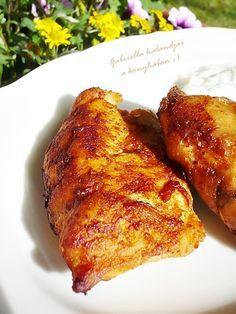 Gabriella kalandjai a konyhában :): Görög csirke joghurtmártással Meat Recipes, Chicken Recipes, Healthy Recipes, Indian Dessert Recipes, Hungarian Recipes, Pork Dishes, Food Presentation, No Cook Meals, Street Food