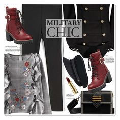 """Military Chic"" by duma-duma ❤ liked on Polyvore featuring Lola and Kevyn Aucoin"