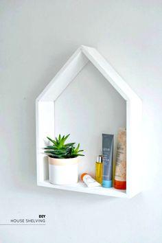 DIY House Shape Storage Shelving - 50 Unique DIY Bathroom Storage Ideas You Must Try - DIY & Crafts