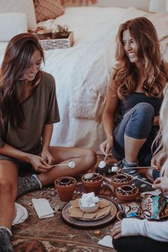 girls night in indoor s'mores @DoveChocolateUS
