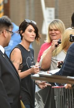 Lena Headey - Lena Headey Heads to 'Jimmy Kimmel Live!'