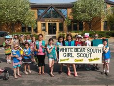 Local veterans expressed their appreciation for White Bear Lake Girl Scouts marching in the Memorial Day parade.