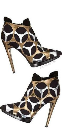 Black Silver and Gold heels