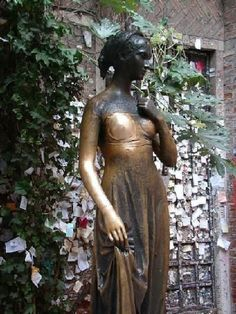 Statue of Juliet  Verona Italy (Verona is the settting for Shakespeare's play Romeo and Juliet)