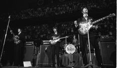 The Beatles at Maple Leaf Gardens in Toronto on Aug.17, 1966
