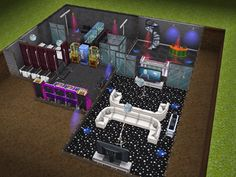 House 103 Party Basement View Sims Simsfreeplay Simshousedesign