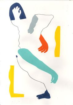 Mirella Bruno Visual Acoustics. - herbertgreen: Life drawings using colour paper...
