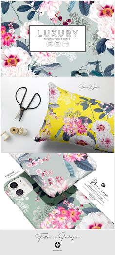 Vibrant yet subtle and elegant elements with large florals developed into a seamless patterns. Perfect for a wide range of end products! Pattern Design, Print Design, Design Art, Floral Design, Graphic Design, Pattern Illustration, Graphic Patterns, Beautiful Patterns, Pattern Wallpaper