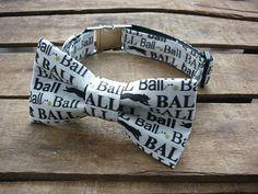 Ball Dog Collar Bow Tie