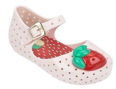 9395f370335 Mini Melissa Light Pink Strawberry Furadinha Shoe (Want Size. Shopping  Mueller Curitiba