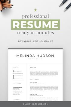 Modern Resume Template for Word & Mac Pages Template Cv, Modern Resume Template, Creative Resume Templates, Creative Cv, Cover Letter For Resume, Cover Letter Template, Portfolio Web, Logos Retro, Design Social
