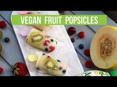 Looking for the perfect, guilt-free dessert for this hot Summer weather? Check out these fruity, tropical-flavored vegan popsicles, with under 3 ingredients . Vegan Falafel Recipe, Vegan Pizza Recipe, Vegan Recipes, Pizza Recipes, Vegan Philly Cheesesteak, How To Make Porridge, Vegan Quiche, Porridge Recipes, Vegan Sugar