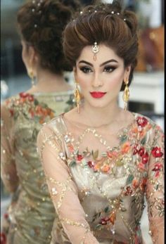 Updos and buns for Pakistani bridals