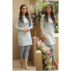 Image may contain: 2 people, people standing Salwar Dress, Nikkah Dress, Pakistani Dresses Casual, Pakistani Dress Design, Stylish Dresses, Simple Dresses, Fashion Tights, Fashion Outfits, Indian Designer Suits