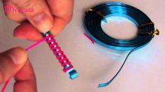 DIY brazalete de alambre y cola de raton. Bracelet wire.