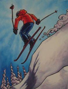 Résultats de recherche d'images pour «skieurs de francois brisson» Brisson, Images, Art, Skiers, Search, Art Background, Kunst, Performing Arts, Art Education Resources
