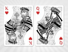 King and Queen of Hearts-Alice in Wonderland playing card deck by Juan Solorzano on kickstarter.com