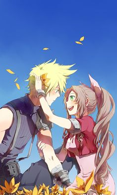 Cloud and Aerith. @AJ The Knight Ohmigosh, remember this?! Still so cute!