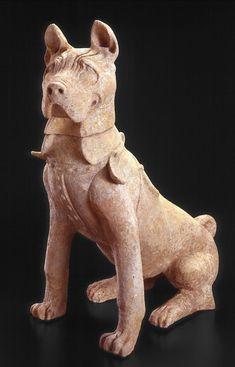 Eastern Han dynasty Rare Dogs, Indianapolis Museum, Guinness Book, Shar Pei, Chinese Art, Asian Art, Art Museum, Dinosaur Stuffed Animal, Lion Sculpture
