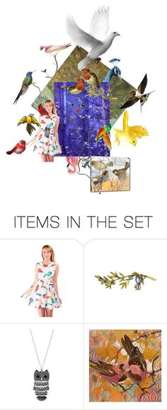 """""""PRETTY COLORFUL BIRDS"""" by anastasia-pellerin ❤ liked on Polyvore featuring art, birds and contestentry"""