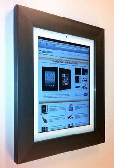 Vidabox On-Wall Mounting Frames Ipad Holder, Tablet Holder, Tablet Stand, Tablet Wall Mount, Ipad Picture, Ipad Storage, Digital Photo Frame, Wall Mounted Tv, Frames On Wall
