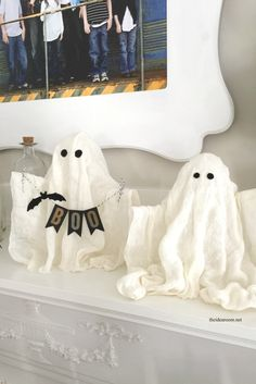 DIY Halloween Ghosts - The Idea Room