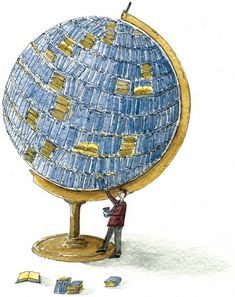 Reading Globe by Andrea Musso re-pinned by: http://sunnydaypublishing.com/books/