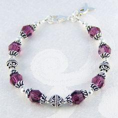 Image detail for -Beaded Cancer Bracelet | Cancer Bracelet