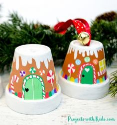Mindy - creative craft ideas for everyday! This page is a huge collection of creative craft ideas and DIY tutorials. Kids craft ideas, seasonal craft ideas, holiday craft ideas, DIY projects and, a lot more! Holiday Crafts For Kids, Xmas Crafts, Christmas Projects, Christmas Time, Flower Pot Crafts, Clay Pot Crafts, Shell Crafts, House Ornaments, Xmas Ornaments