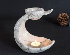Ceramic unique Raku fired Oil burners & Jewelry by Tetraktisstudio