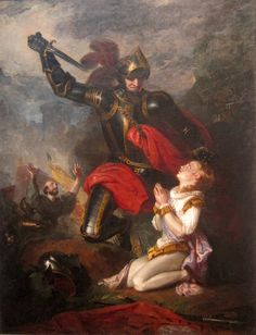 The Murder of Edmund, Earl of Rutland, by Lord Clifford. He died at the age of seventeen after the Battle of Wakefield (30 December 1460) during the Wars of the Roses. He had fought in the battle at the side of his father, Richard, Duke of York.